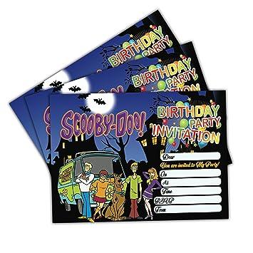 20 x ScoobyDoo Kids Birthday Party Invitations Invites Cards