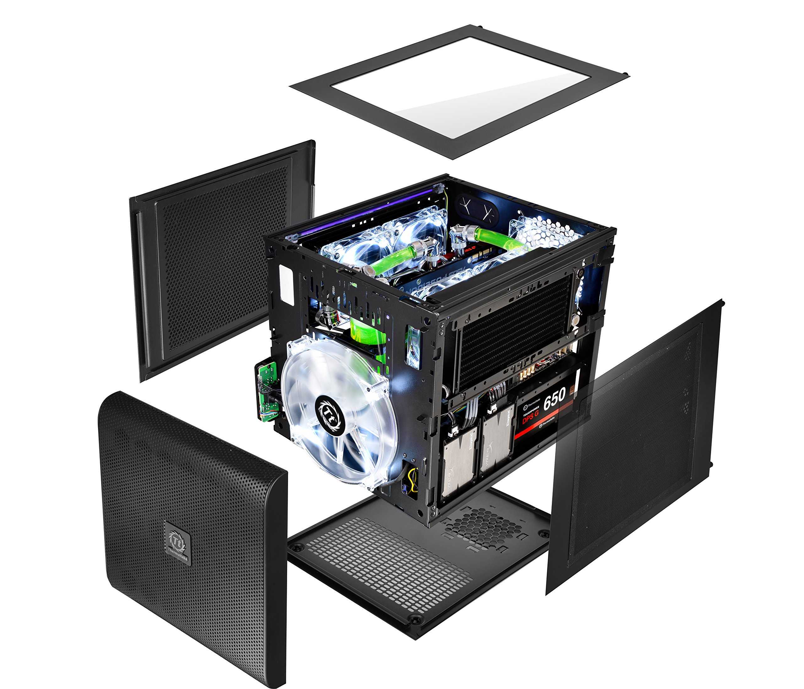 Thermaltake Core V21 SPCC Micro ATX, Mini ITX Cube Gaming Computer Case Chassis, Small Form Factor Builds, 200mm Front Fan Pre-installed, CA-1D5-00S1WN-00 by Thermaltake (Image #13)