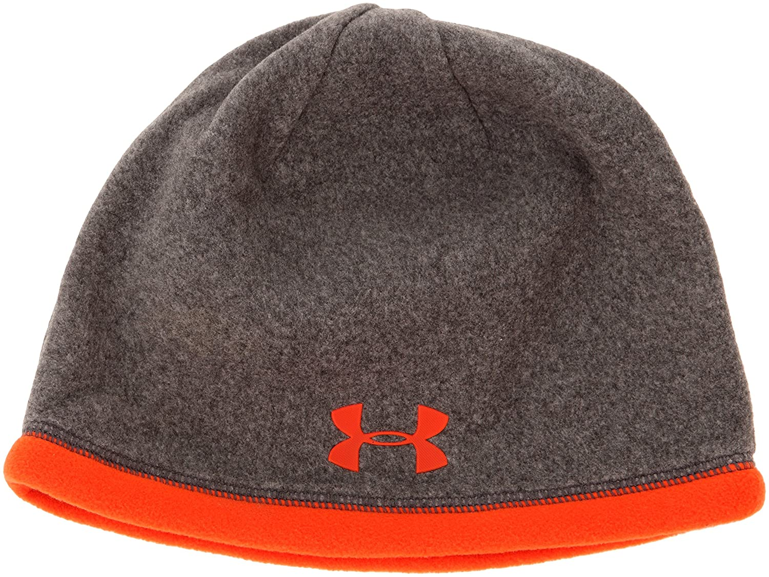 Amazon.com  Under Armour ColdGear Infrared Elements Storm Beanie -  Heather Volcano  Sports   Outdoors 9d0a15243df
