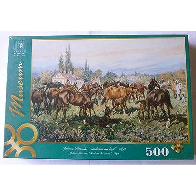 Stud on the Grass, Kossak 500 Piece Puzzle: Toys & Games
