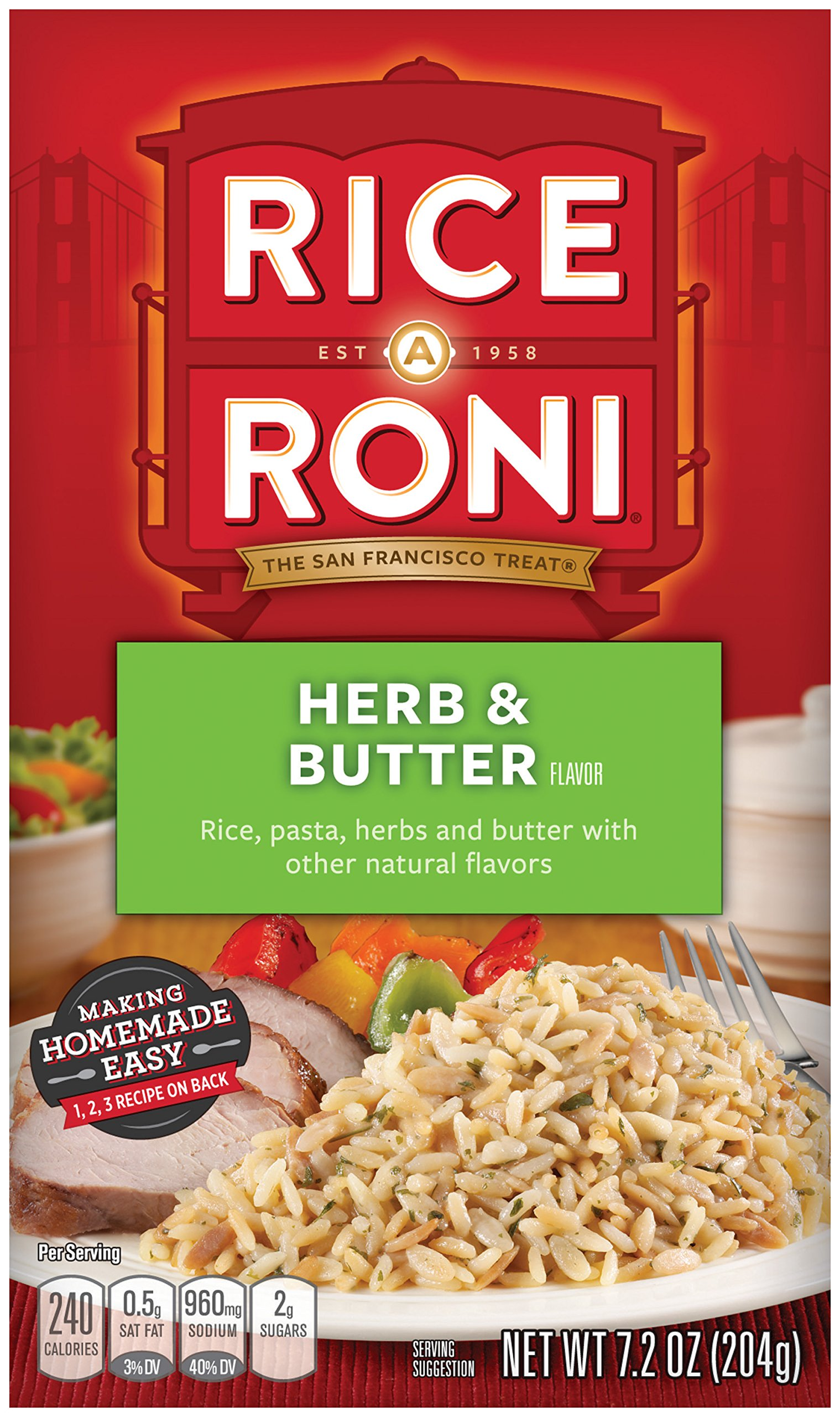 Rice-A-Roni Herb & Butter, 7.2-Ounce Boxes (Pack of 12)