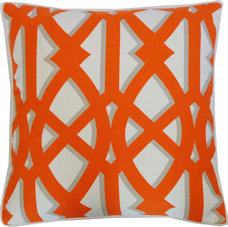 Amazon Com Jiti Trap Orange Outdoor Throw Pillow 20 By 20