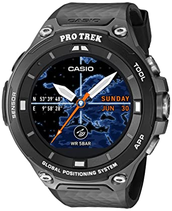 Amazon.com  Casio Men s  PRO TREK  Quartz Resin Outdoor Smartwatch ... 9c20196e654
