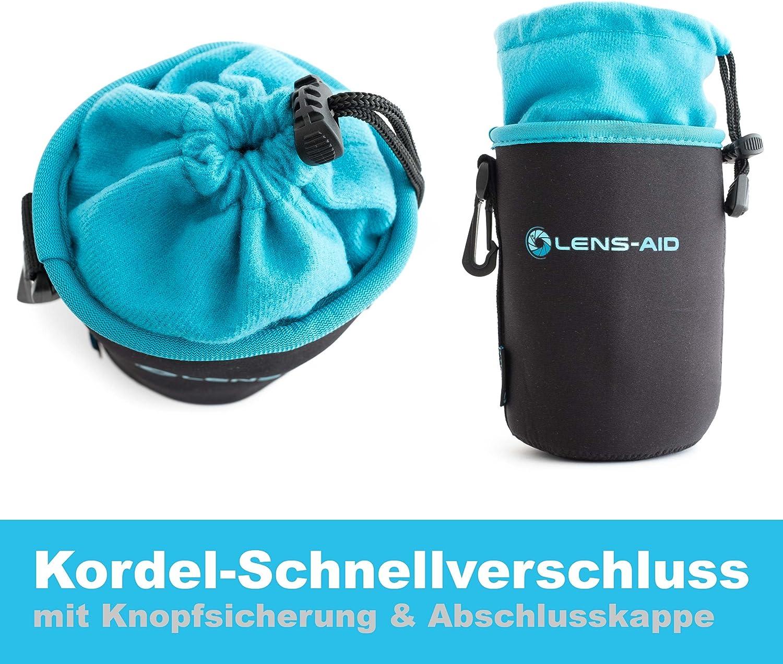 XS Bolsa Protectora para Lentes y Accesorios da Camera fotografica Lens-Aid Funda Protectora para Objetivo de Neopreno con Forro Polar