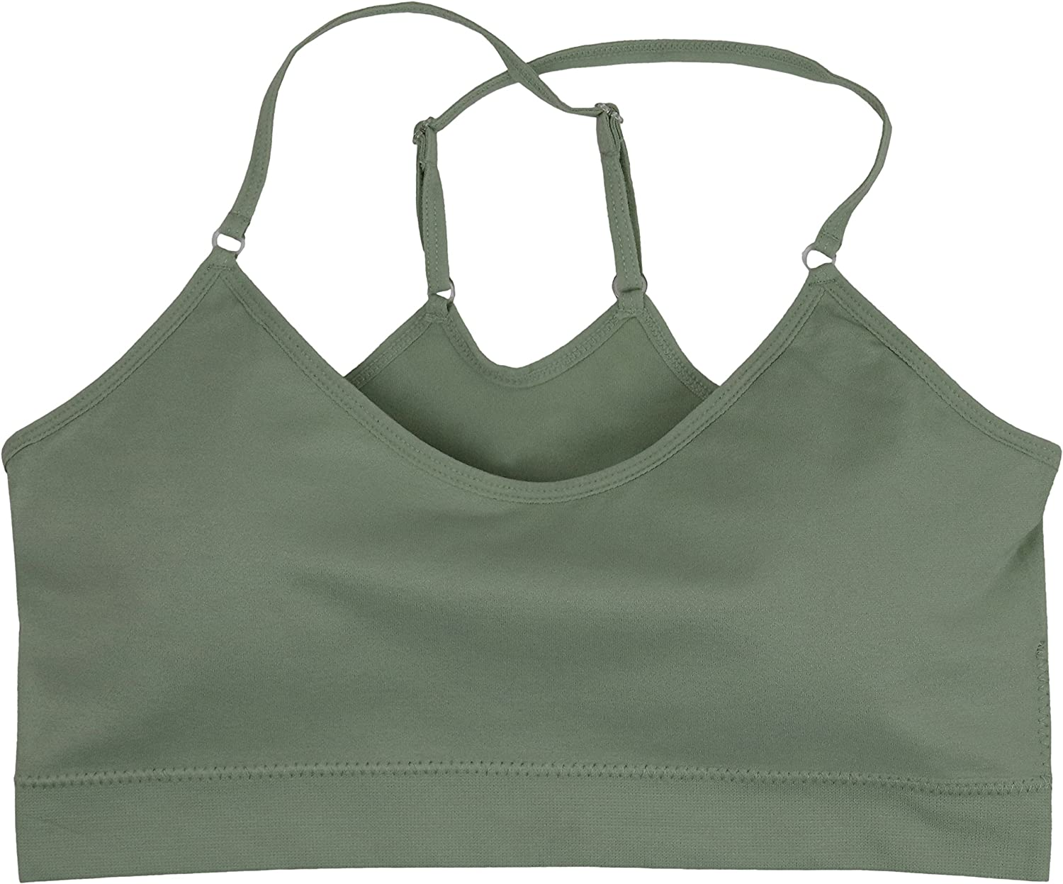 ToBeInStyle Womens Seamless Cross-Back Sports Bras