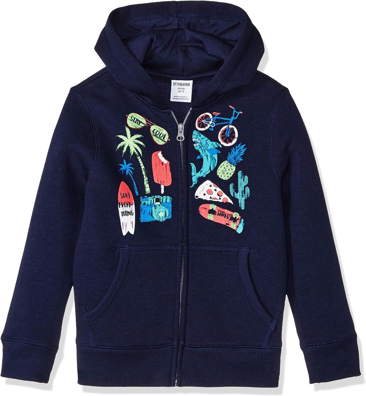 Brand Spotted Zebra Boys Zip-up Fleece Hoodie Hooded Sweatshirt