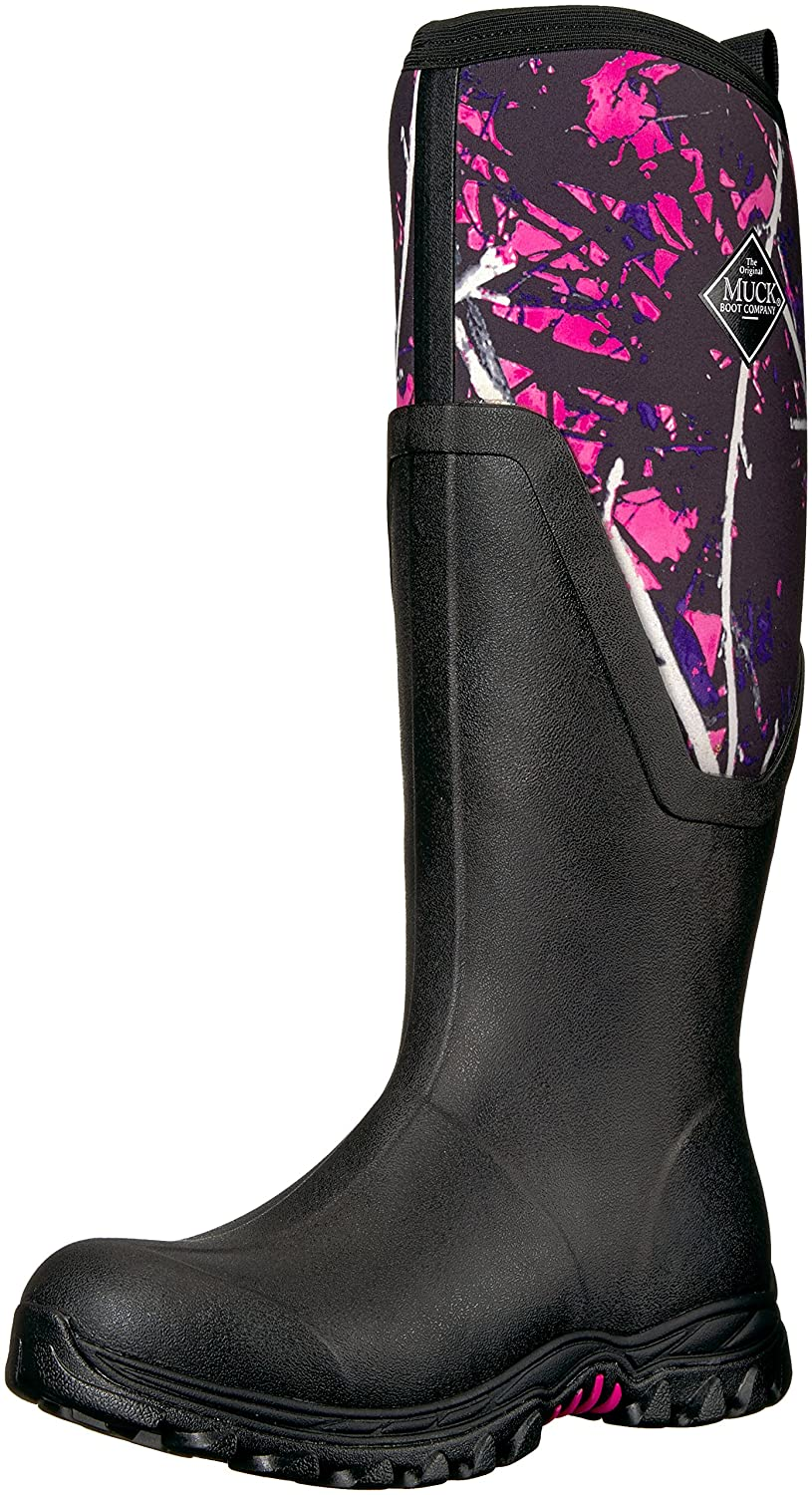 Muck Boot Women's Arctic Sport II Tall Snow B0725YKNS6 8 B(M) US|Black / Muddy Girl