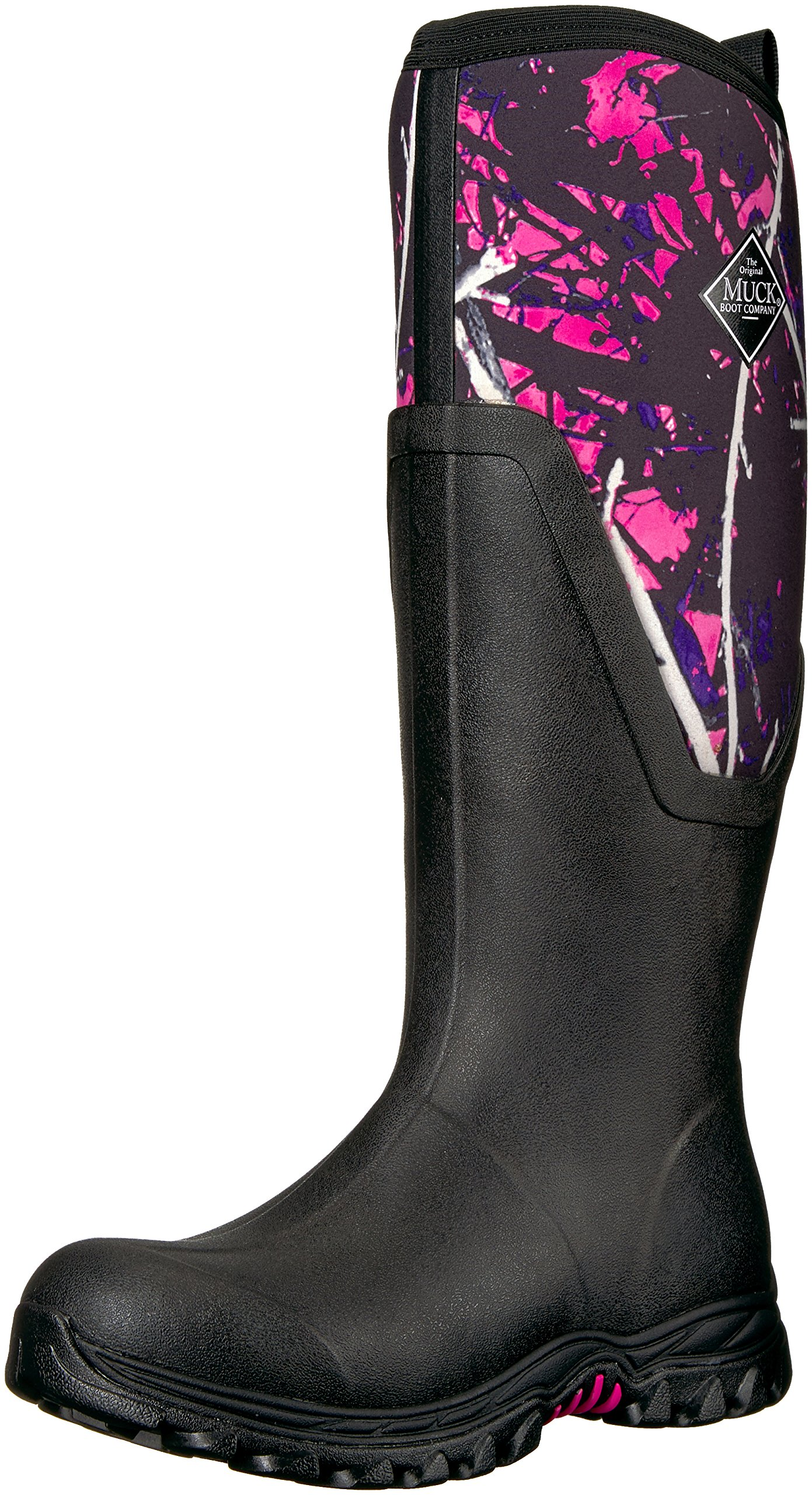 Muck Boot Women's Arctic Sport II Tall Work Boot, Black/Muddy Girl, 8 M US