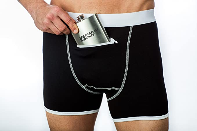 Speakeasy Briefs, Men's Stash Underwear with a Secret Front Pocket