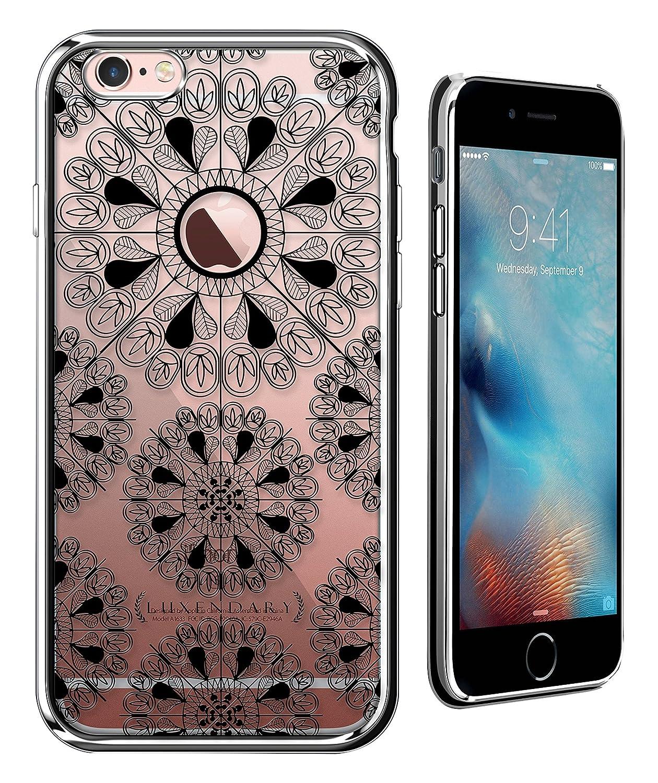 iPhone 6 / 6S用クローム仕上げのLuxendaryロングブラックSFサイン超スリムクリアケース   B01GS4NM6U