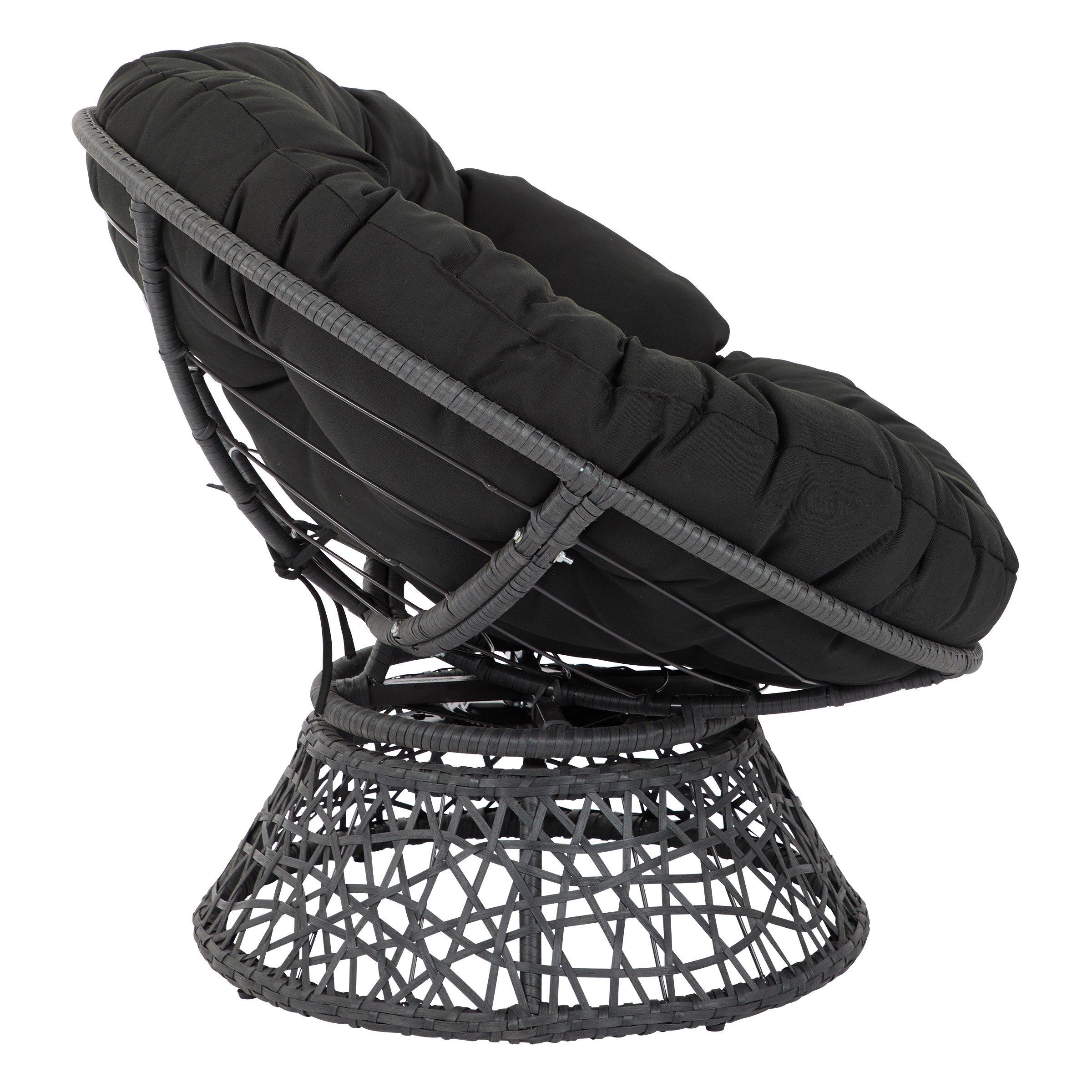 OSP Designs  Papasan Chair, Black by OSP Designs (Image #4)