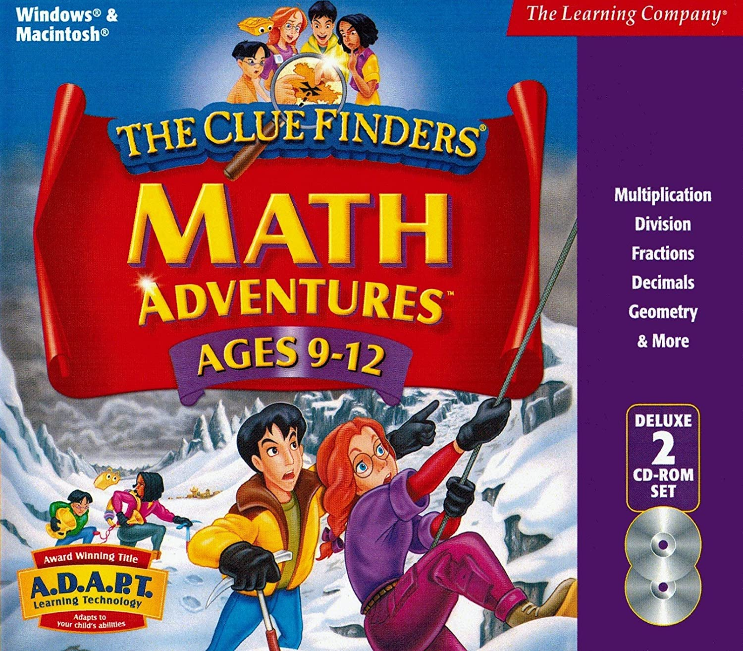 Cluefinders Math Adventures Ages 9-12 Deluxe 91ASMdn2BNXL
