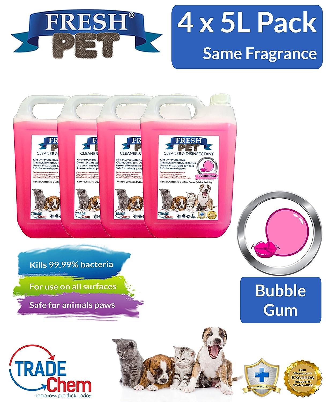 Désinfectant, Nettoyant, Désodorisant par Trade Chemicals - 4x 5l Fresh pour animal domestique chenil/chatterie TCFP20St