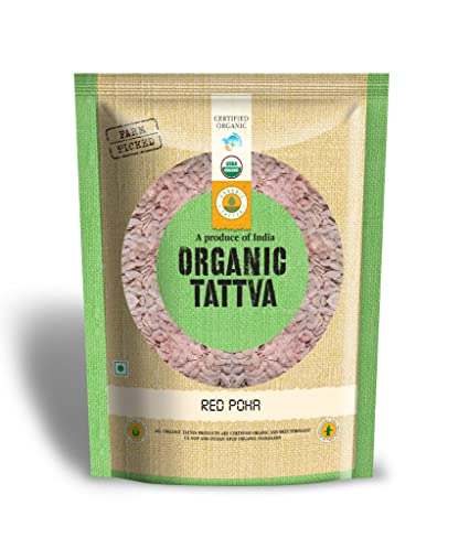 Organic Tattva Red Poha, 500g