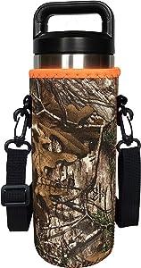 Koverz 24-30oz 750ml Water Bottle Carrier with Shoulder Strap, Water Bottle Holder - Realtree Camo