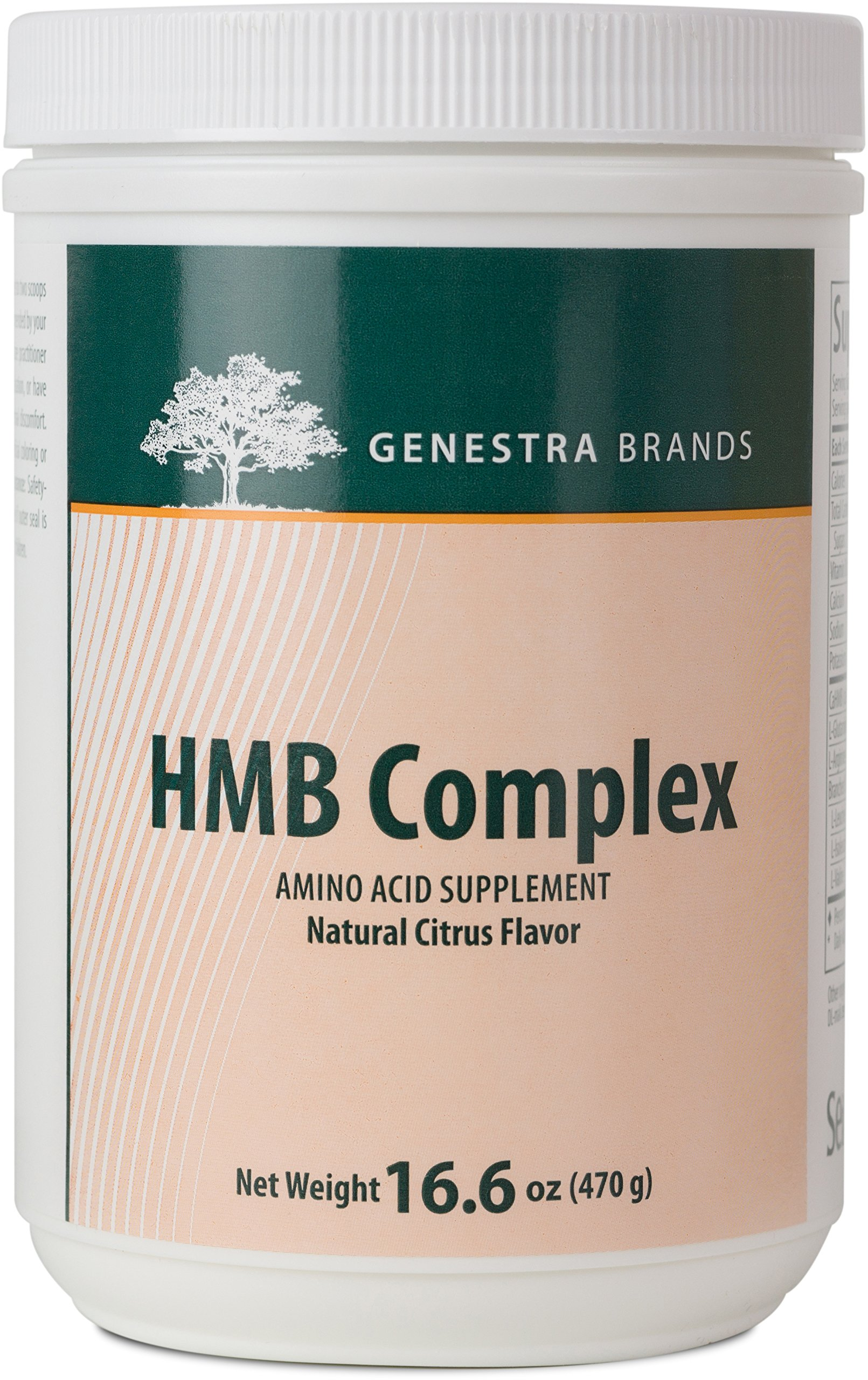 Genestra Brands - HMB Complex - Vegetarian Amino Acid Powder Supplement - Natural Orange Flavor - 16.6 oz (470 g)