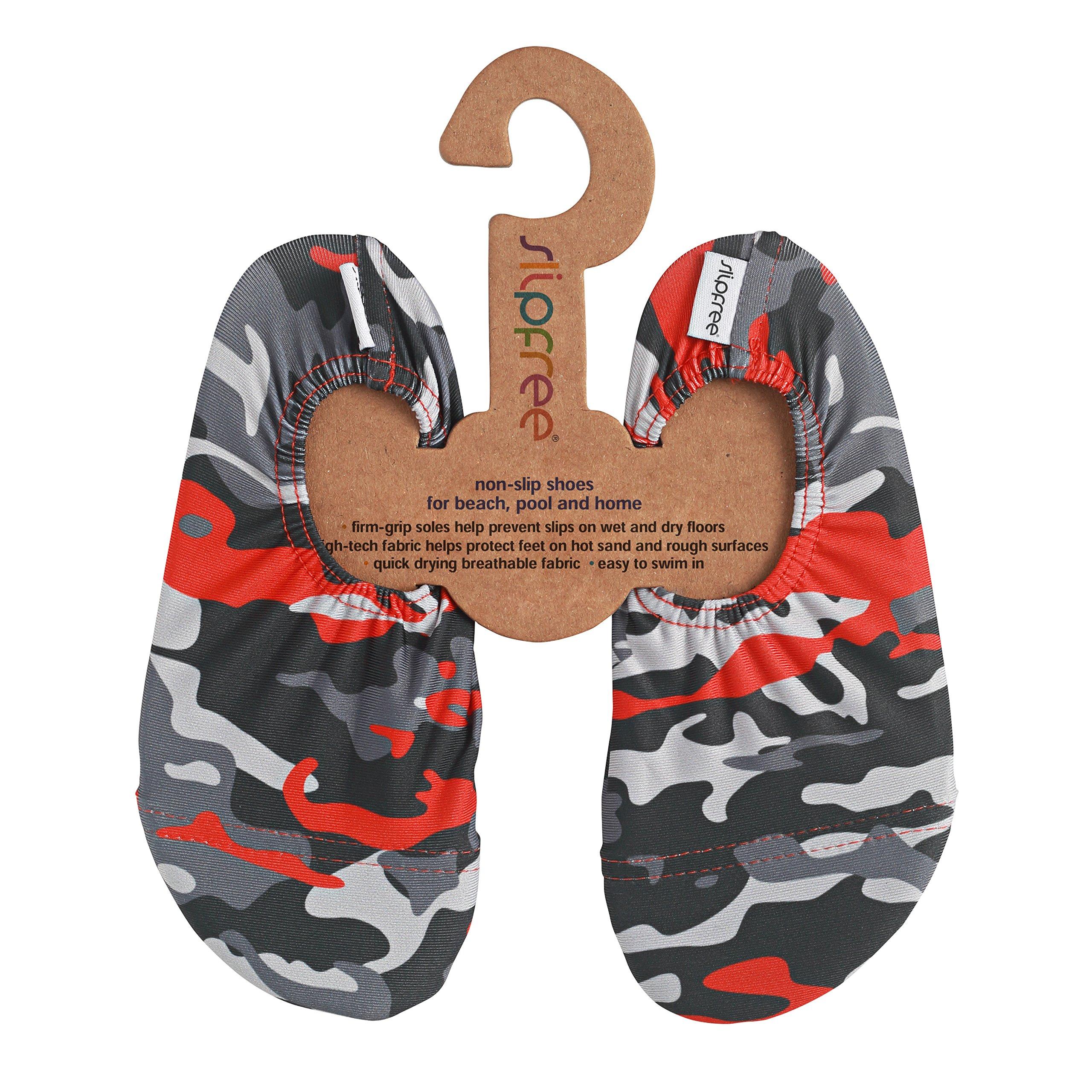 Slipfree Water & Multi Use Shoes for Beach, Pool, Home, School, Gym, Boat, Kindergarten, Travel (Medium, Desert Camu)