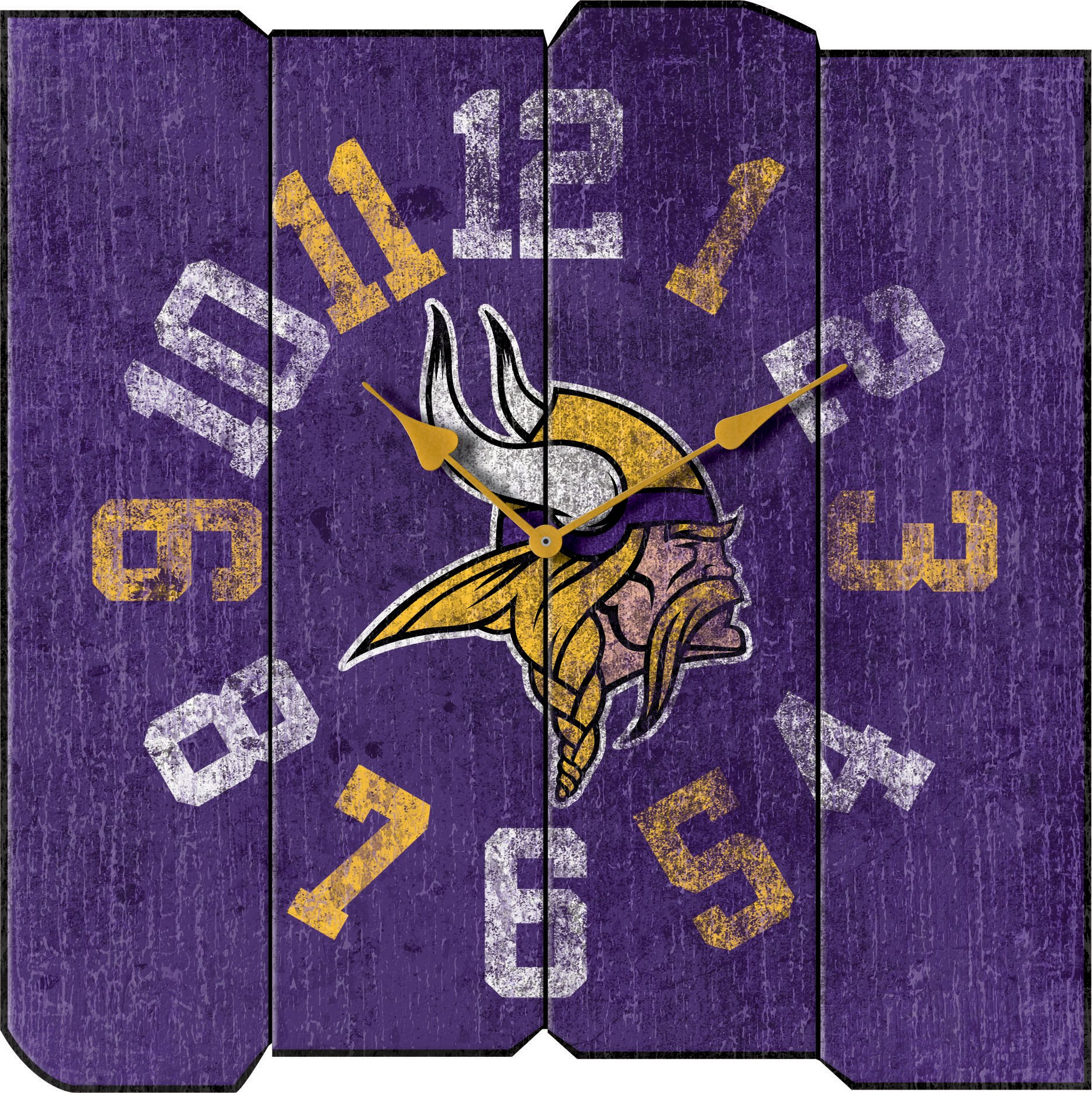 Imperial Officially Licensed NFL Merchandise: Vintage Square Clock, Minnesota Vikings by Imperial