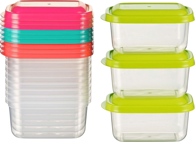 Kigima - Minirecipientes de alimentos para congelador, 0,25l ...