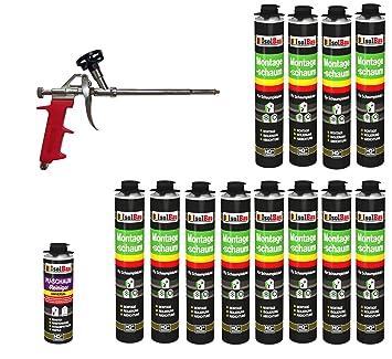 Set pistola de espuma 12 latas 750 ml Espuma de montaje 1 K ...