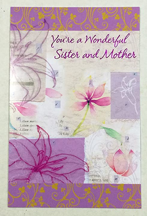 amazon com mothers day card sister you re a wonderful sister and
