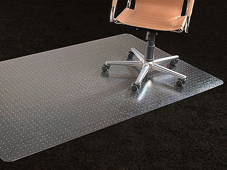 "Office Premium Chair Mat 35""x47"" Carpet Protection Mat Low Medium Pile,Studded,Clear,Rectangular Shaped"