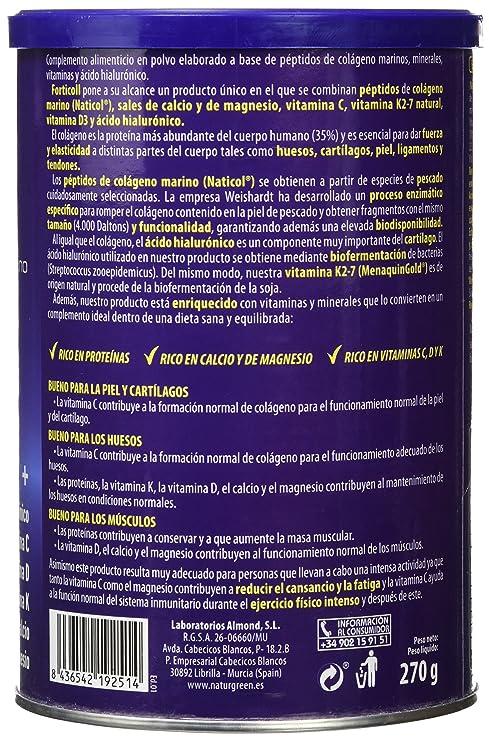 Forticoll Colágeno Marino, Complemento alimenticio en polvo - 270 gr.: Amazon.es: Salud y cuidado personal
