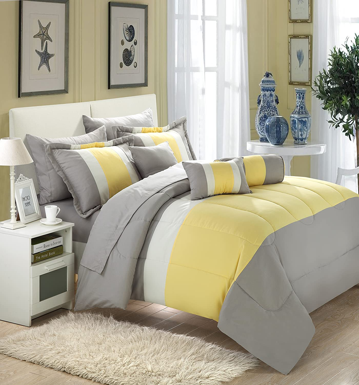 Amazon.com: FELICITY 10-Piece Comforter Set, King Size ...