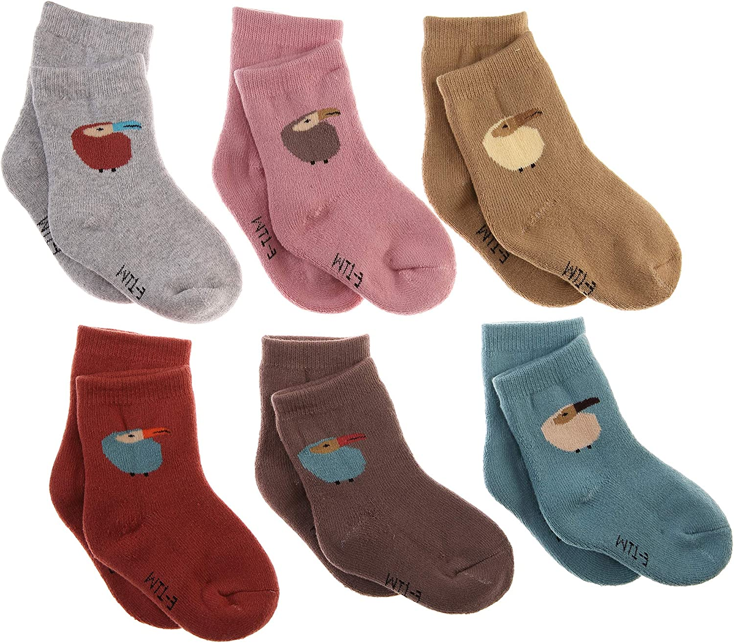 Kids Boy Girls Soft Warm Cotton Socks Thick Thermal Winter Casual Child Toddlers Baby Socks 6 Pairs