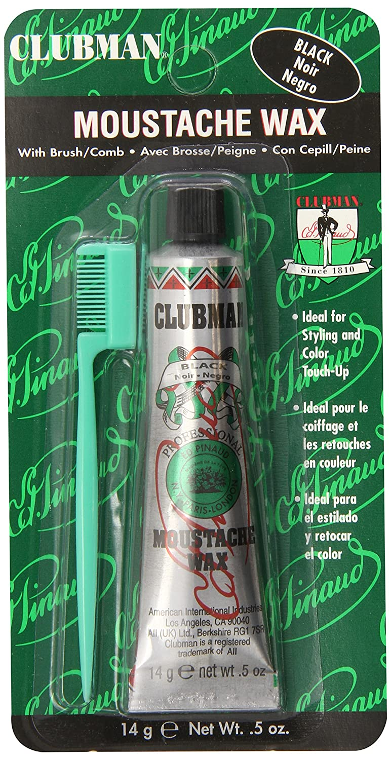 Clubman Moustache Wax Black 0.50 oz (Pack of 3) Clubman Pinaud