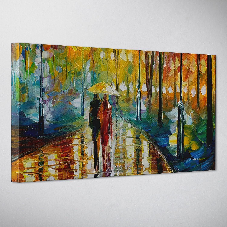 Cuadro sobre lienzo, de Leonid Afremov, con bastidor y efecto pintado a mano al óleo, listo para colgar, de estilo arte moderno, impresionista