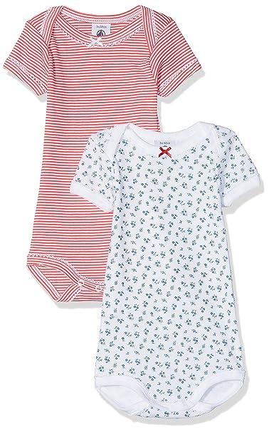 Petit Bateau X2 Us MC 1000R F Abbr, Conjunto de Ropa Interior para Bebés,