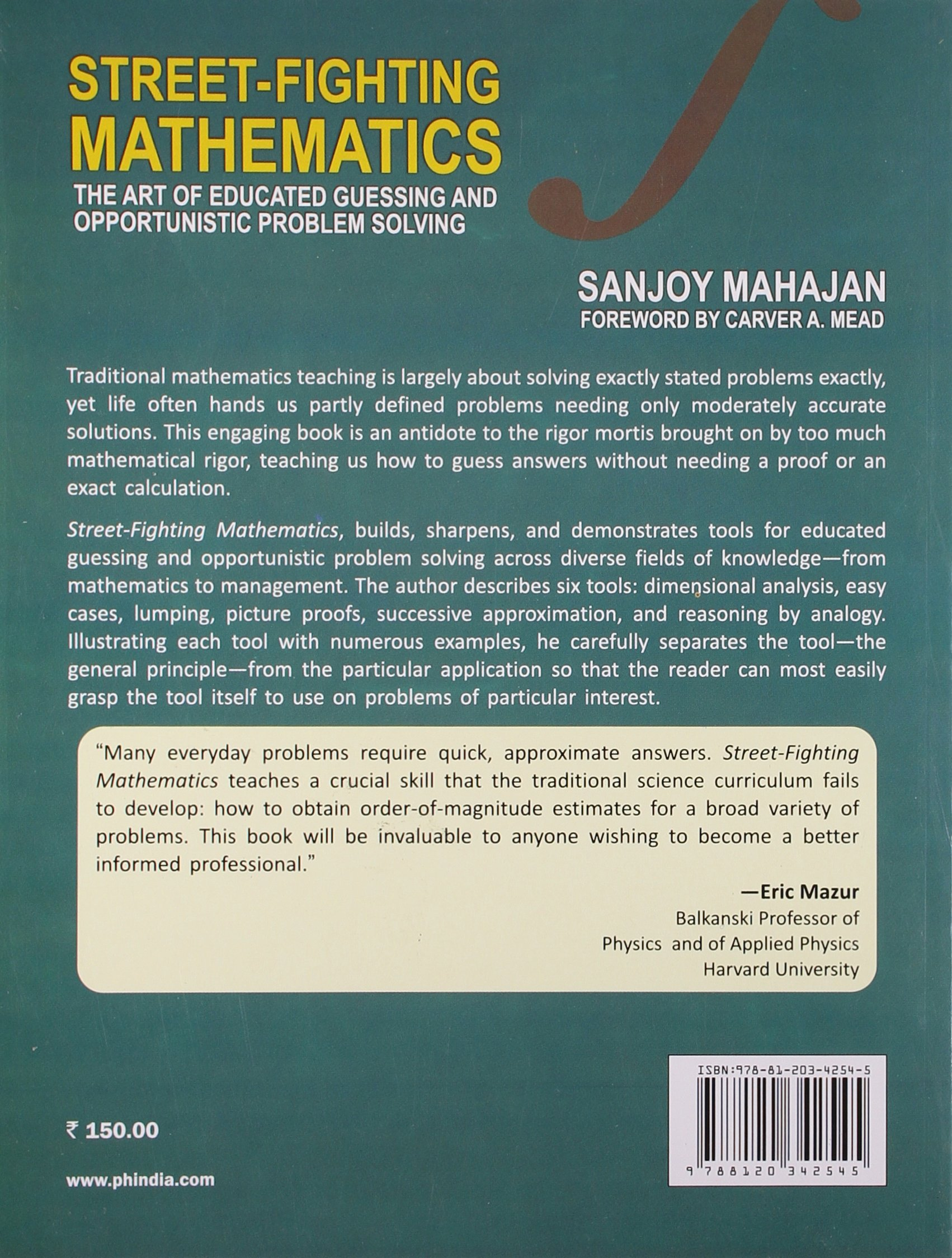 Buy Street - Fighting Mathematics: The Art of Educated Guessing and ...