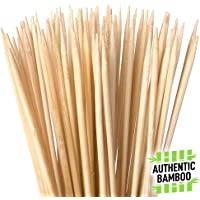 Authentic Bamboo Marshmallow Roasting Sticks, Perfect for S'Mores, Includes 40 Extra Long 30″ Bamboo Skewers with 5mm Heavy Duty Thickness, Ideal for Grilling Hot Dogs, Kebabs & More - by Zulay