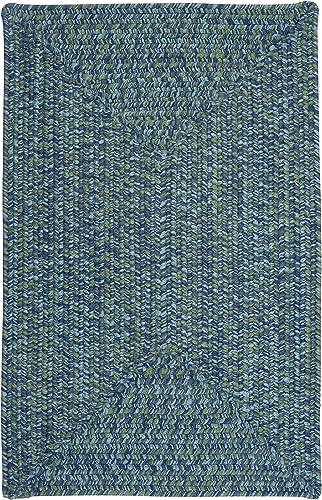 Catalina Polypropylene Braided Rug, 3-Feet by 5-Feet, Deep Sea