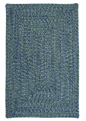 Catalina Polypropylene Braided Rug, 4-Feet by 6-Feet, Deep Sea