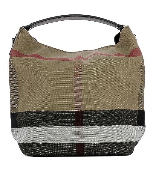 09fbe52a3f Burberry Borsa Shopping Donna 3945726 Tessuto Beige: Amazon.it:  Abbigliamento