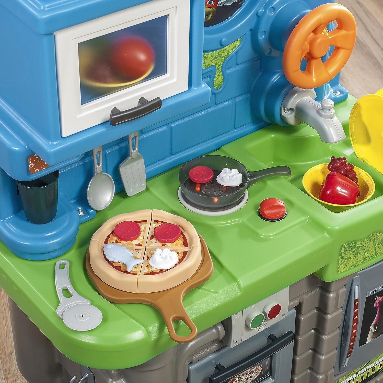 Amazon.com: Step2 Teenage Mutant Ninja Turtles Pizza Kitchen Playset ...