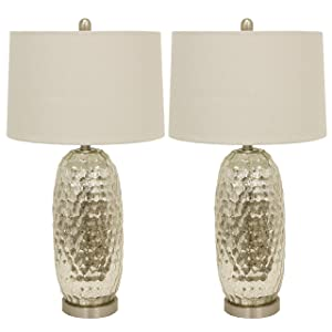 Décor Therapy MP1066 Table Lamp, Antique Silver