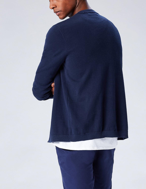 find Brand Mens Cotton Button Down Cardigan