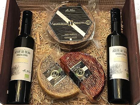 Cesta Caja navidad lote quesos artesanos: Amazon.es: Alimentación y bebidas