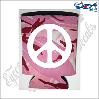 af0819b4f0e Amazon.com  Eyecandy Decals Peace Sign White on a Pink CAMO Pocket ...