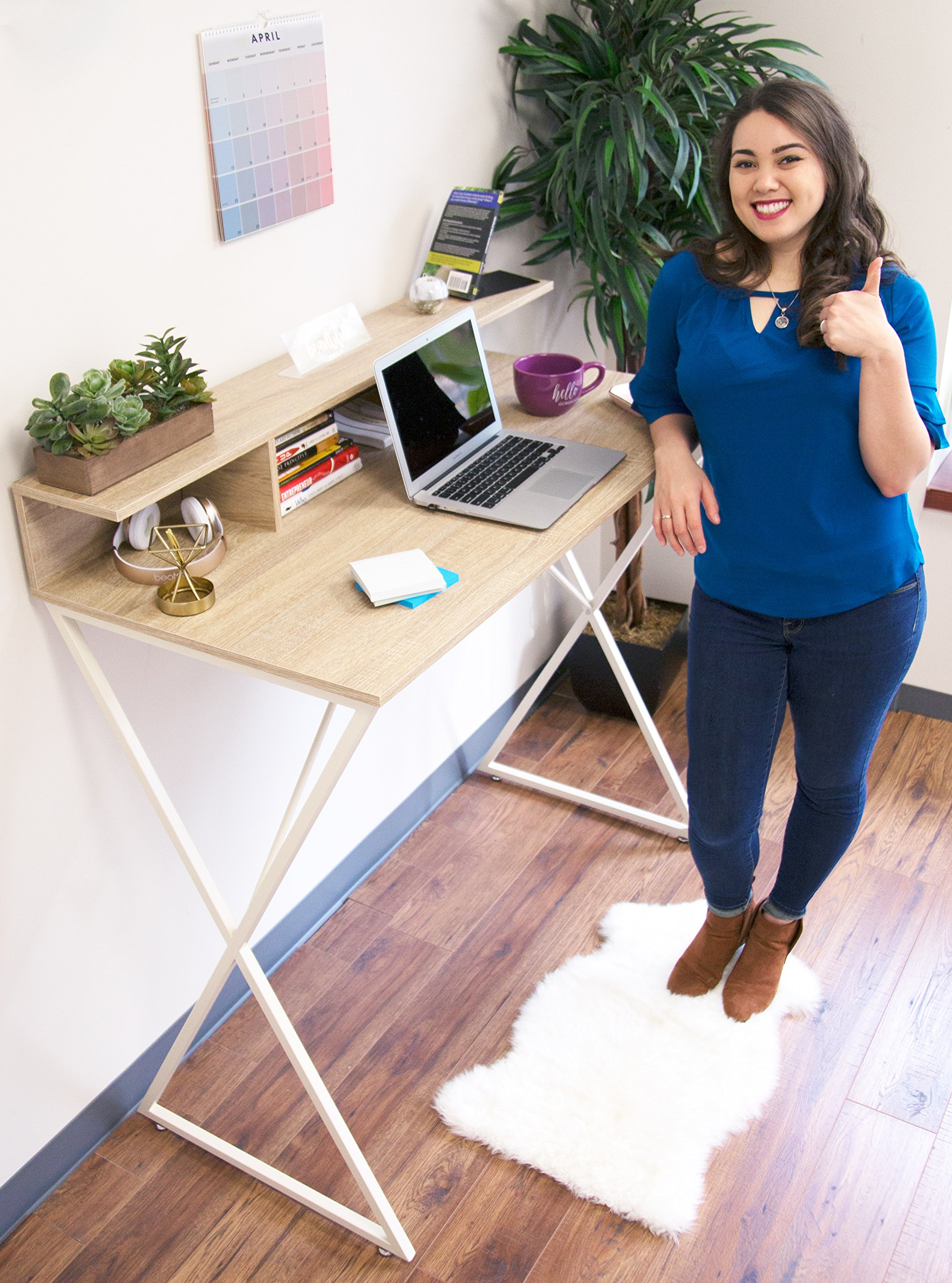 Joy Desk by Stand Steady - Modern Home Office Standing Desk Workstation with Storage Cubbies! - 47.5'' x 41.5'' by Stand Steady (Image #9)