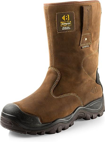 04999fd22ff BSH010BR Men's Waterproof Safety Rigger Work Boots
