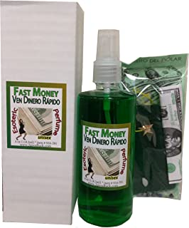 Fast Money Perfume w/Pheromones & Amulet for Rituals & Magic - Perfume Con Feromonas
