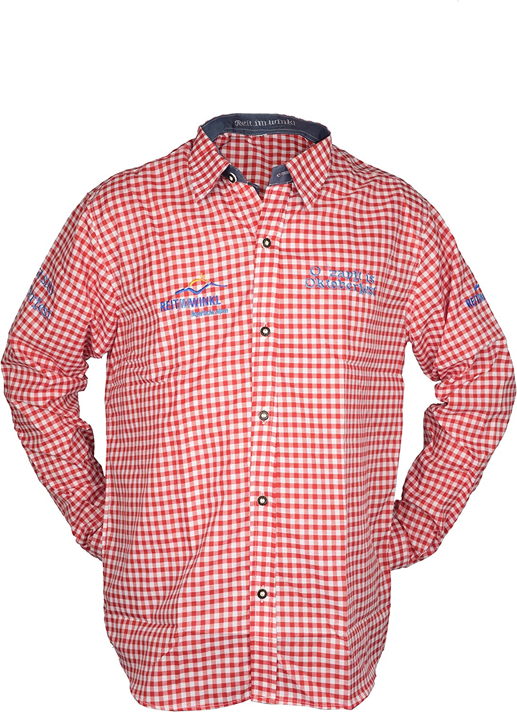 Traditional Wear Oktoberfest Camisa, Cuadros para Hombre Rojo Extra-Large: Amazon.es: Ropa y accesorios