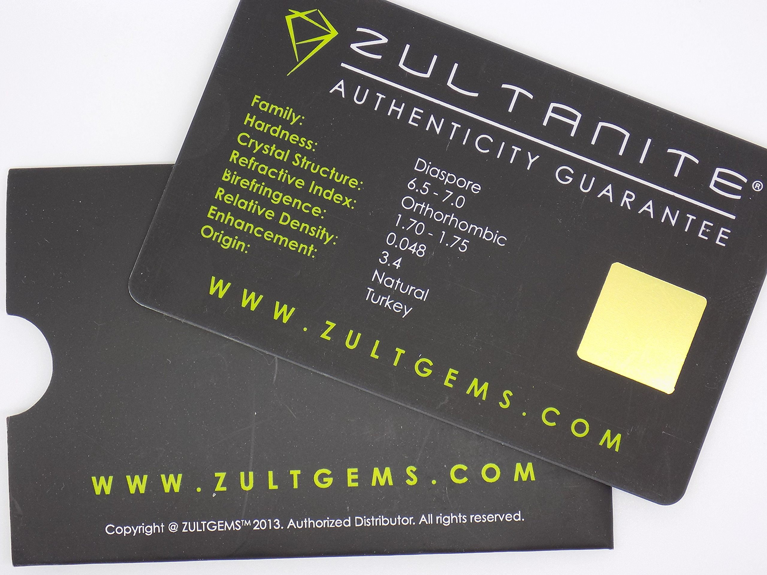 Zultanite (1) 1.37 Ct Natural Loose Gem 8x6mm Oval Cut Cert of Auth G011 by Zultanite (Image #5)