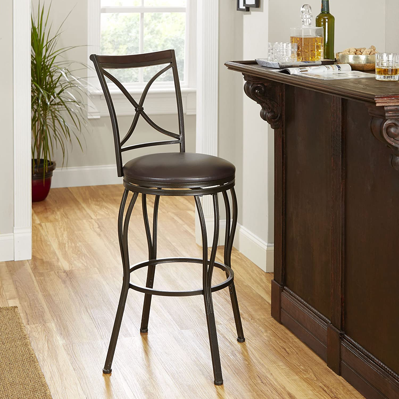Incredible Mainstays Cheyenne Cameron Adjustable Height Swivel Bar Stool Beatyapartments Chair Design Images Beatyapartmentscom