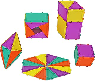 product image for Geometiles 3D Building Set for Learning Math, Includes Many Online Activities,32-pc, Made in USA (Triangle/Rectangle/Square)
