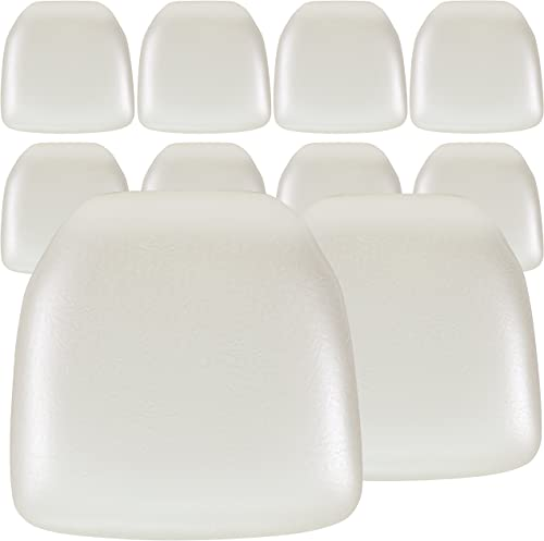 Flash Furniture 10 Pk. Hard Ivory Vinyl Chiavari Chair Cushion